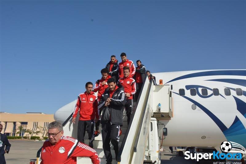 وصول المنتخب المصري في اسوان