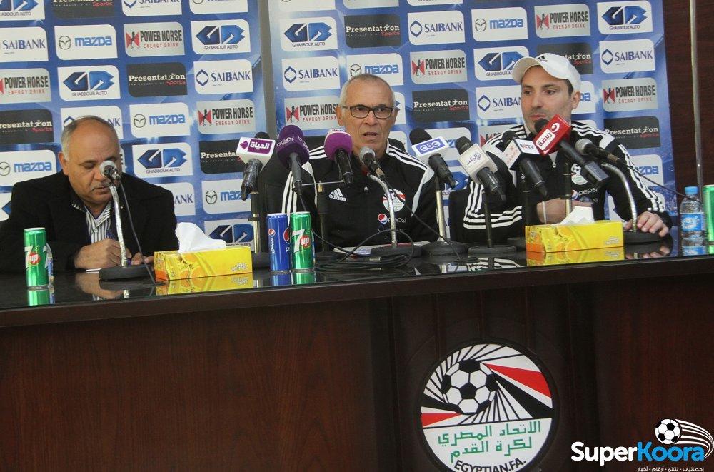 مؤتمر وتدريب منتخب مصر لودية الاردن و ليبيا