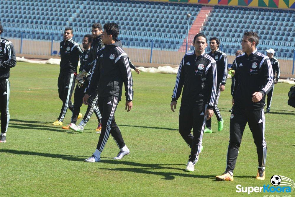 تمرين منتخب مصر لكره القدم في اسوان