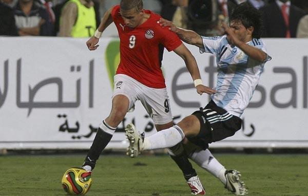 مصر والارجنتين . مباراة ودية . 2008